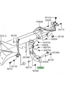 Cache latéral de radiateur gauche Kawasaki Z800 (2013-2016) | Réf. 140920965