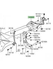 Intérieur écope de radiateur gauche Kawasaki Z800 (2013-2016) | Réf. 140920967