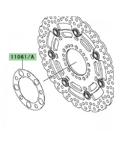 Joint disque de frein avant Kawasaki Er-6n ABS (2009-2010) | Réf. 110610201