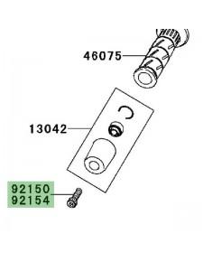 Vis fixation d'embout de guidon Kawasaki Er-6n (2009-2011) | Moto Shop 35