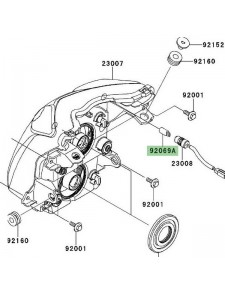 Veilleuse (12V/5W) optique avant Kawasaki Er-6n (2009-2011) | Réf. 920691016