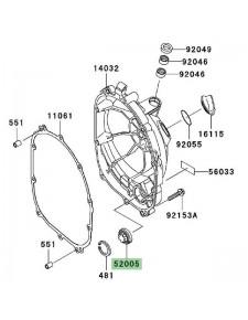 Hublot carter d'embrayage Kawasaki Z750 (2004-2006) | Réf. 520051120