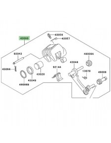 Étrier de frein arrière Kawasaki Z750 (2004-2006)   Réf. 430800085DJ