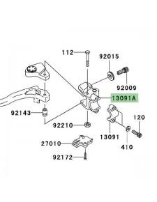 Support de rétroviseur gauche Kawasaki Z750 (2004-2006) | Réf. 132800248