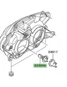 Ampoule H7 optique avant Kawasaki Z750 (2004-2006) | Réf. 920690053