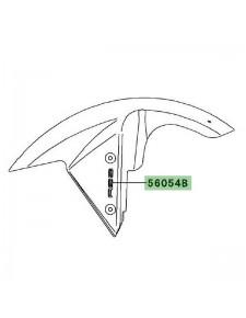 """Autocollant """"ABS"""" garde-boue avant Kawasaki Z750 (2007-2012)   Moto Shop 35"""