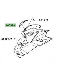 Cache plastique tête de fourche Kawasaki Z750 (2007-2012) | Réf. 140910725