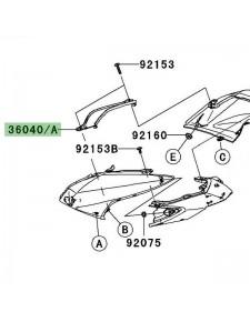 """Partie """"entre deux selles"""" Kawasaki Z750 (2007-2012)   Moto Shop 35"""