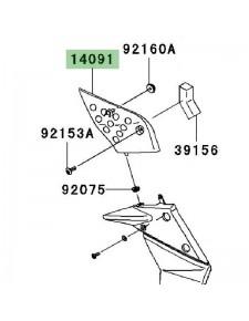 Cache latéral boîte à air gauche Kawasaki Z750 (2007-2012)   Moto Shop 35