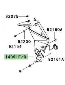 Cache pivot gauche Kawasaki Z750 (2007-2012)   Moto Shop 35