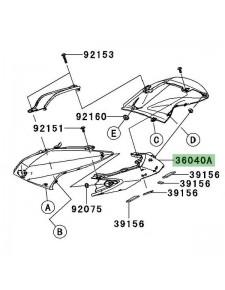 Entourage de feu arrière Kawasaki Z750 (2007-2012)   Moto Shop 35