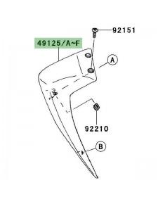 Écope de radiateur peinte gauche Kawasaki Z750 (2007-2012)   Moto Shop 35