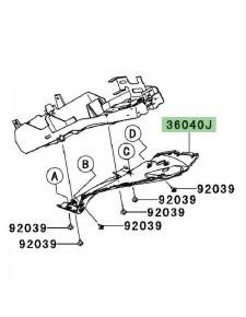 Passage de roue Kawasaki Z750 (2007-2012)   Réf. 3604000796Z