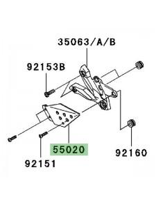 Protection de talon gauche Kawasaki Z750 (2007-2012)   Réf. 550200237