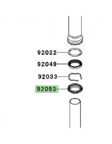 Cache poussière de fourche Kawasaki Z750 (2007-2012)   Réf. 920931472