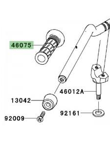 Poignée caoutchouc gauche Kawasaki Z750 (2007-2012)   Réf. 460751144