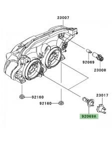 Ampoule H7 (12V/55W) optique avant Kawasaki Z750 (2007-2012)   Réf. 920690053