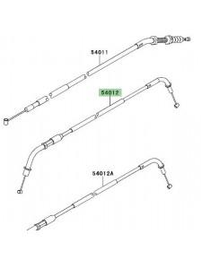 Câble d'ouverture des gaz Kawasaki Z750R (2011-2012) | Réf. 540120304