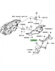 Entourage compteur Kawasaki Z750R (2011-2012) | Réf. 140920818