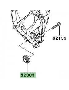 Hublot carter d'embrayage Kawasaki Z750R (2011-2012) | Réf. 520051120