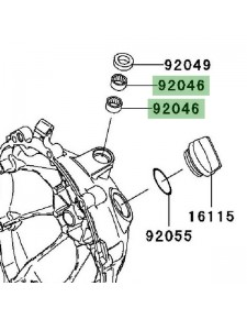 Roulement à aiguilles carter d'embrayage Kawasaki Z750R (2011-2012) | Réf. 920460034