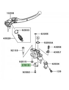 Contacteur de frein avant Kawasaki Z750R (2011-2012) | Réf. 270100025