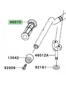 Poignée caoutchouc gauche Kawasaki Z750R (2011-2012) | Réf. 460750068