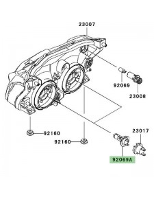 Ampoule H7 (12V/55W) optique avant Kawasaki Z750R (2011-2012) | Réf. 920690053