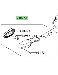 Clignotant avant gauche Kawasaki Z750R (2011-2012) | Réf. 230370239