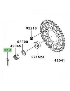 Goupille écrou de roue arrière Kawasaki Z750R (2011-2012) | Réf. 550AA4035