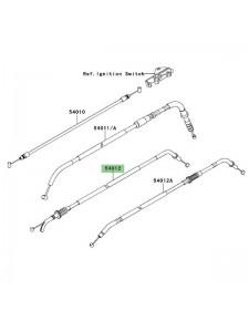 Câble ouverture des gaz Kawasaki Versys 650 (2007-2009) | Réf. 540120208