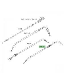 Câble fermeture des gaz Kawasaki Versys 650 (2007-2009) | Réf. 540120209