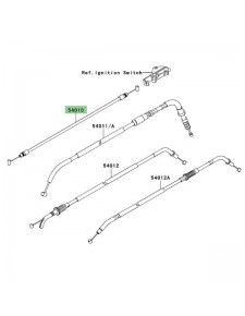 Câble fermeture de selle Kawasaki Versys 650 (2007-2009) | Réf. 540100029