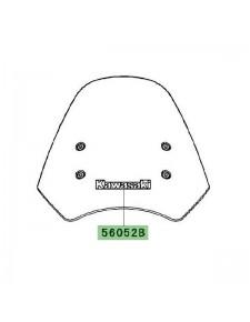 "Autocollant ""Kawasaki"" bulle Kawasaki Versys 650 (2007-2009) | Réf. 560521956"