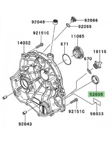 Hublot carter d'embrayage Kawasaki Versys 650 (2007-2009) | Réf. 520050071
