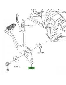 Pédale de frein arrière Kawasaki Versys 650 (2007-2009) | Réf. 430010128