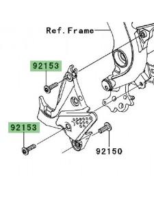 Vis de fixation platine repose-pieds Kawasaki Versys 650 (2007-2009) | Réf. 921531630