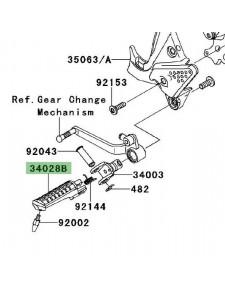 Repose-pieds avant gauche Kawasaki Versys 650 (2007-2009) | Réf. 340281334