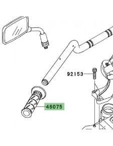 Poignée caoutchouc gauche Kawasaki Versys 650 (2007-2009) | Réf. 460751144