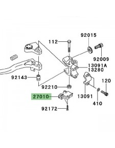 Contacteur d'embrayage Kawasaki Versys 650 (2007-2009) | Réf. 270101094