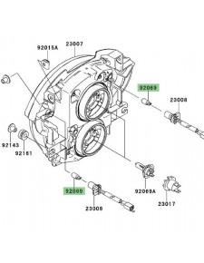 Veilleuse (12V/5W) optique avant Kawasaki Versys 650 (2007-2009) | Réf. 920691016
