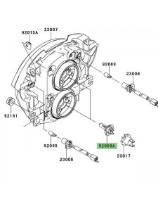 Ampoule H7 (12V/55W) optique avant Kawasaki Versys 650 (2007-2009) | Réf. 920690053